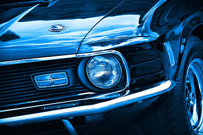 Photograph - '70 Mustang Mach 1 Blue by Gordon Dean II
