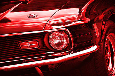 Photograph - '70 Mustang Mach 1 Red by Gordon Dean II