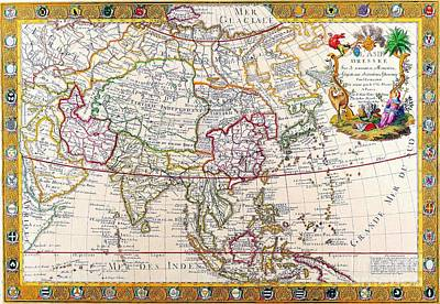 Maps Painting - Antique Map by Baltzgar