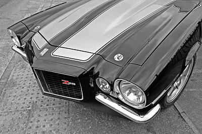 Photograph - 71 Camaro Z28 In Black And White by Gill Billington
