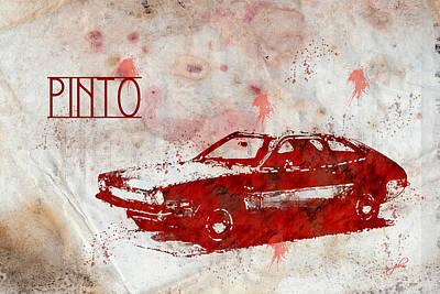 Digital Art - 71 Pinto by Paulette B Wright