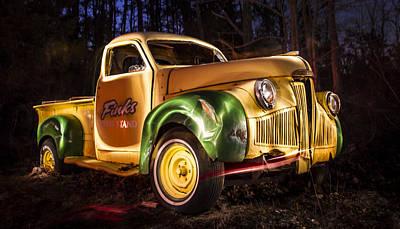 7136 Old Truck Lightpainting Art Print by Deidre Elzer-Lento