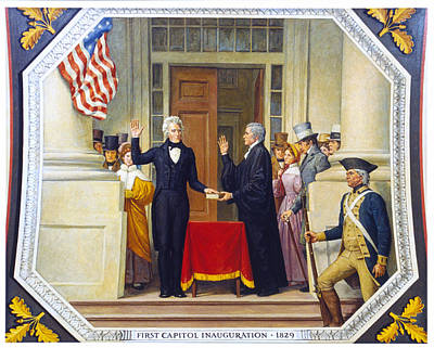 Justice Painting - Andrew Jackson (1767-1845) by Granger