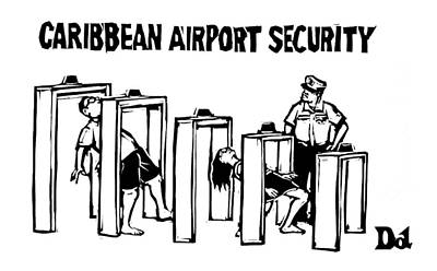 January 19th Drawing - Caribbean Airport Security by Drew Dernavich