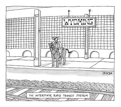 Train Station Drawing - New Yorker January 22nd, 2007 by Jack Ziegler
