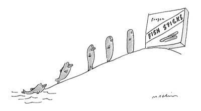 New Yorker December 3rd, 2007 Art Print by Michael Maslin