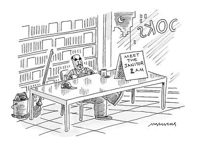 The Mick Drawing - New Yorker November 28th, 2005 by Mick Stevens