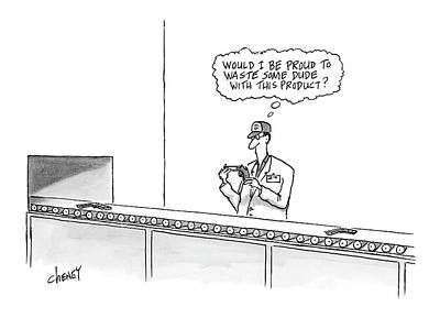 Dude Drawing - New Yorker May 16th, 2005 by Tom Cheney
