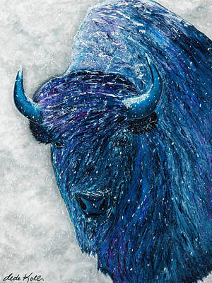 Painting - Buffalo  - Ready For Winter by Dede Koll