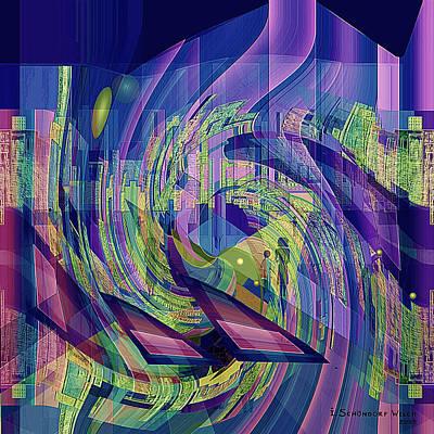 Digital Art - 729 -  Big City Dwelling 2  by Irmgard Schoendorf Welch