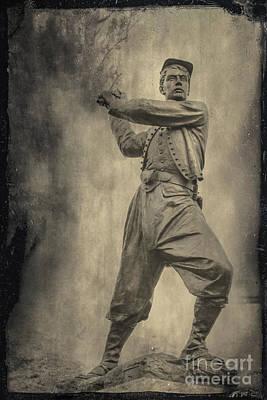 Volunteer Infantry Photograph - 72nd Pennsylvania Monument Gettysburg by Randy Steele