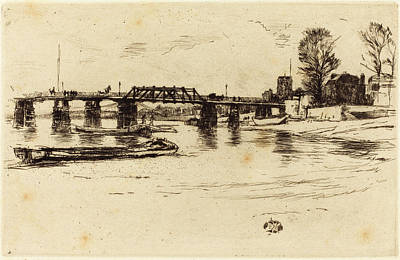Fulham Drawing - James Mcneill Whistler American, 1834 - 1903 by Quint Lox