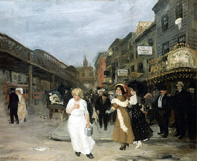 Photograph - Sixth Avenue And Thirtieth Street by John Sloan