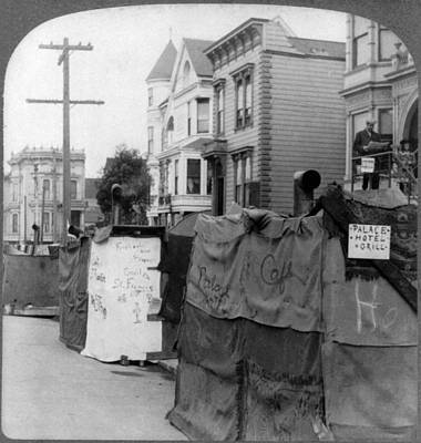 Powerlines Painting - San Francisco Earthquake by Granger