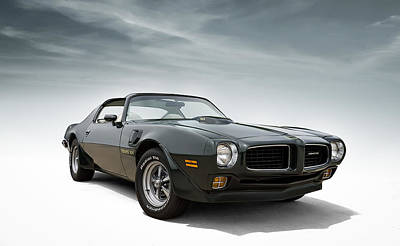 Green Digital Art - '73 Trans Am by Douglas Pittman