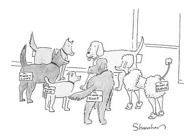 Rear Drawing - New Yorker September 17th, 2007 by Danny Shanahan