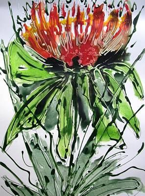 Flower Still Life Mixed Media - Heavenly Flowers by Baljit Chadha