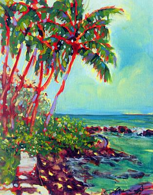 Fauvist Painting - Kalenakai Palms by Richard Rochkovsky