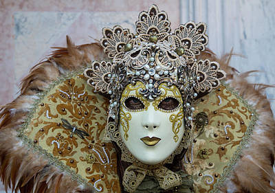 Bronze Mask Photograph - Venice At Carnival Time, Italy by Darrell Gulin