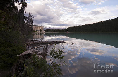 Photograph - 741p The Chateau At Lake Louise Canada by NightVisions