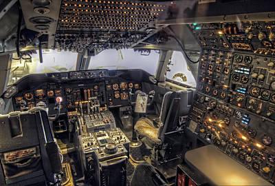 747 Cockpit Art Print