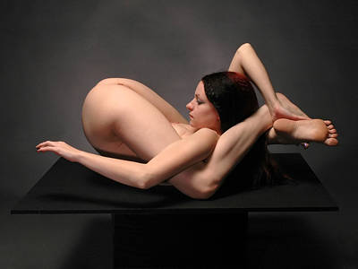Photograph - 7486 Nude Kajira Extreme Flexibility  by Chris Maher
