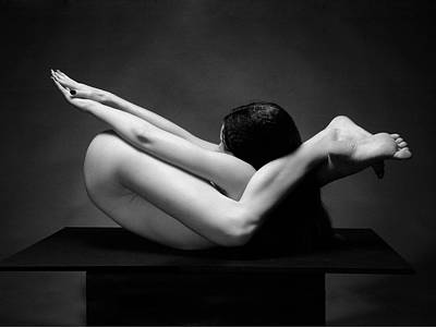 Photograph - 7487 Flexible Nude Woman by Chris Maher