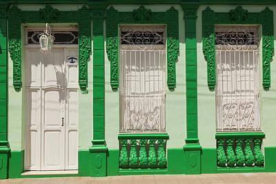 Caribbean House Wall Art - Photograph - Cuba, Sancti Spiritus Province by Walter Bibikow