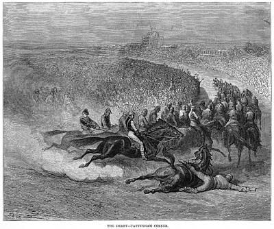 Horserace Painting - Dor� London, 1872 by Granger