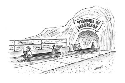 Tunnel Drawing - New Yorker October 22nd, 2007 by Tom Cheney