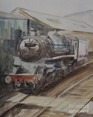 Swindon Painting - 75069 Br Standard Class 4 by Martin Howard