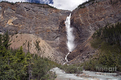 Photograph - 757p Takakkaw Falls Canada by NightVisions
