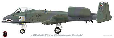 Digital Art - 75th Tfs A-10 Warthog by Barry Munden
