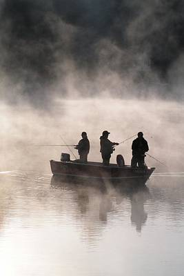 #763 D70 Fishing At Dawn Vertical Original by Robin Lee Mccarthy Photography