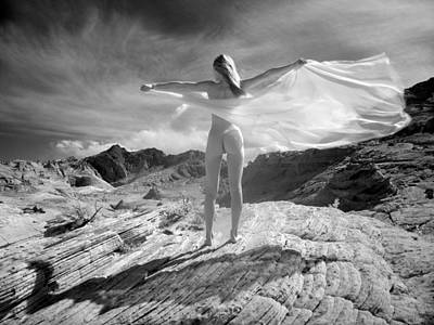 Photograph - 7642 Nude On Wings Of Mountian Wind  by Chris Maher