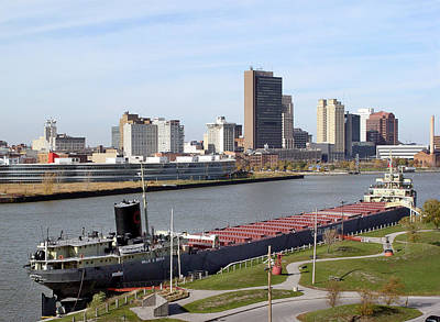 Photograph - 7665 Toledo Ohio Cityscape Charles Boyer On Maumee River by Chris Maher