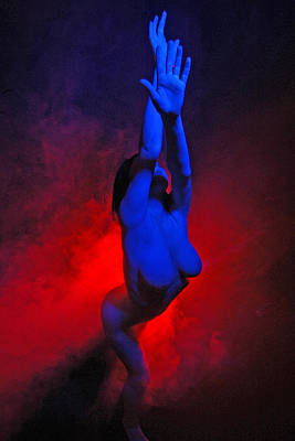 Photograph - 7680 Color Abstract Nude by Chris Maher