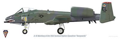 Digital Art - 76th Tfs A-10 Warthog by Barry Munden