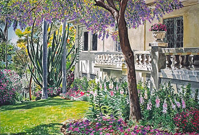 Beverly Hills Painting - A Visit To Virginia's by David Lloyd Glover