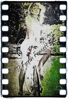 Digital Art - '77 Farrah Fawcett by Absinthe Art By Michelle LeAnn Scott