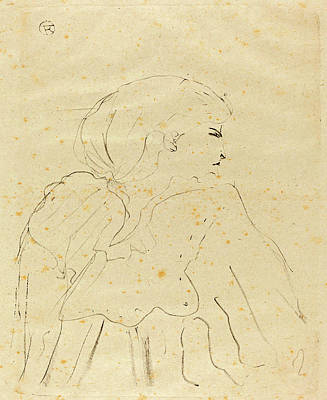 Hand Made Drawing - Henri De Toulouse-lautrec French, 1864 - 1901 by Quint Lox