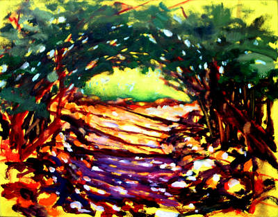 Hawaii Painting - Shady Path by Richard Rochkovsky