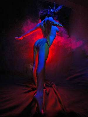 Photograph - 7792 Color Abstract Nude by Chris Maher