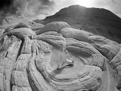 Photograph - 7817 High Desert Nude Meditation  by Chris Maher