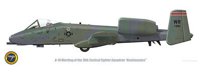 Digital Art - 78th Tfs A-10 Warthog by Barry Munden