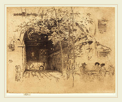 Traghetto Drawing - James Mcneill Whistler American, 1834-1903 by Litz Collection