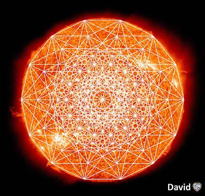 Digital Art - 7d Sun by David Diamondheart