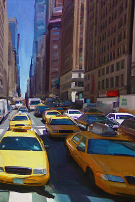 7th Avenue W36th Street Nyc Art Print by Nop Briex