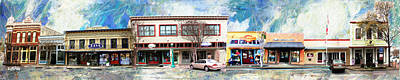 Georgetown Mixed Media - 7th Street Panorama by GretchenArt FineArt