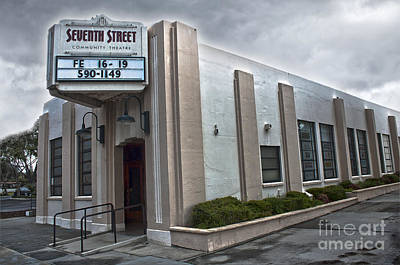 7th Street Theatre - Chino Ca Art Print by Gregory Dyer